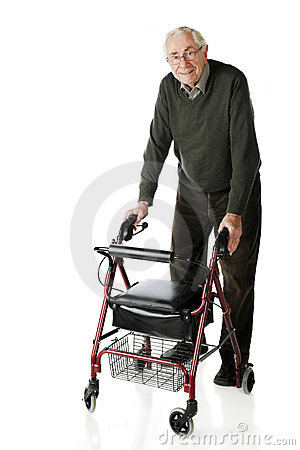 Free Senior-Walker Stroll Royalty Free Stock Photo - 17831825