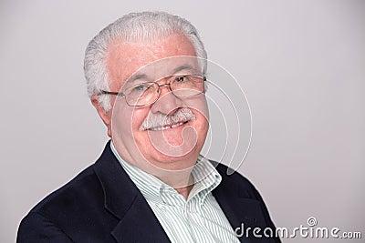Senior White Hair Man