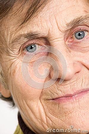 Senior woman Close up