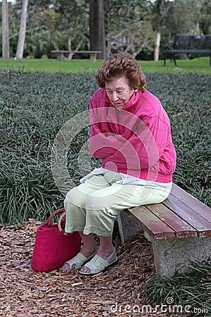 Senior Woman Cold & Sad