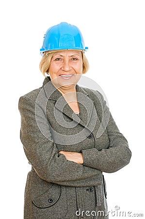 Senior woman engineer