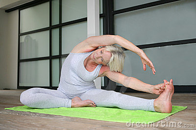 Senior woman exercising