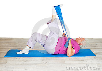 Senior woman exercising for mobility
