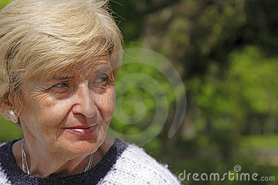 Senior woman expression