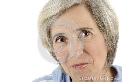 Senior woman eyes