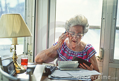 Senior woman with finances_2