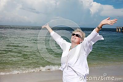 Senior woman freedom/praise