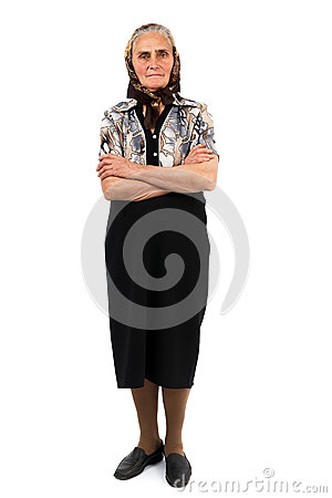 Senior Woman Full Length Portrait Royalty Free Stock Images - Image: 24671989