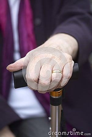 Senior woman hand
