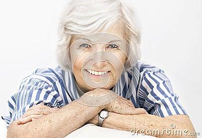 Senior woman happy
