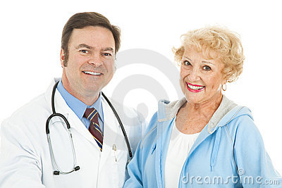Senior Woman and Her Doctor