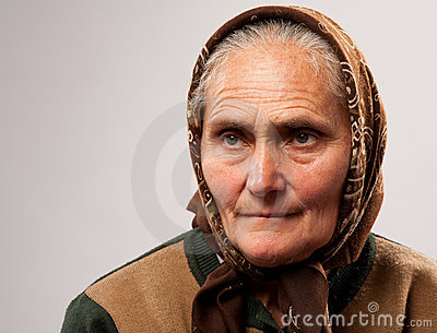 Senior woman with kerchief