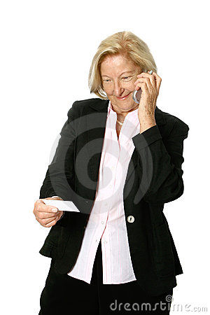 Senior Woman Making Call Stock Photos - Image: 2449903