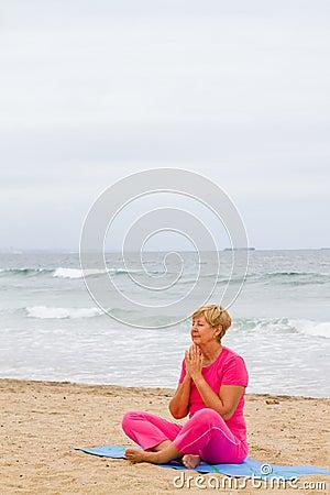 Senior woman meditation