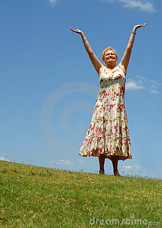 Senior woman meditation/praise