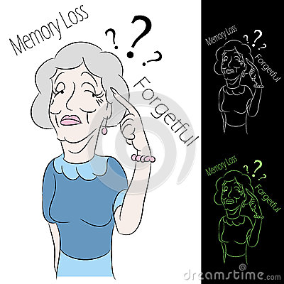 Senior Woman Memory Loss