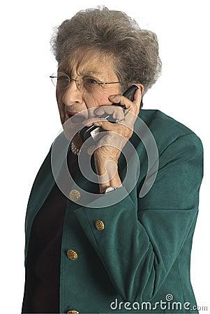Free Senior Woman On Phone Stock Photography - 1633242