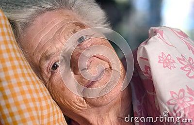 Senior woman resting