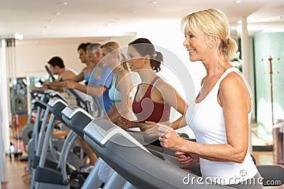 Senior Woman On Running Machine
