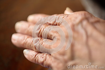 Senior Woman s Hand