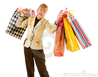 Senior Woman on a Shopping Spree
