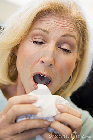 Senior Woman Sneezing Stock Photos - Image: 7770023