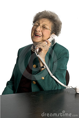 Senior woman on telephone