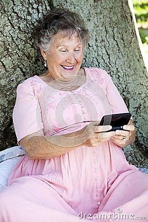 Senior Woman Texting