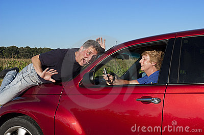 Texting While Driving >> Senior Woman Texting While Driving Car Accident Stock ...