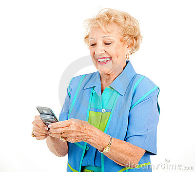 Senior Woman - Texting Fun