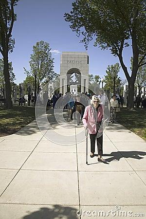 Senior woman veteran Editorial Image