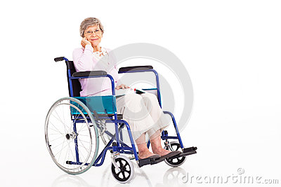 Senior woman wheelchair