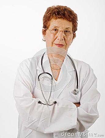 Senior women doctor