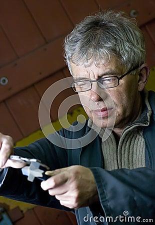 Senior workman portrait