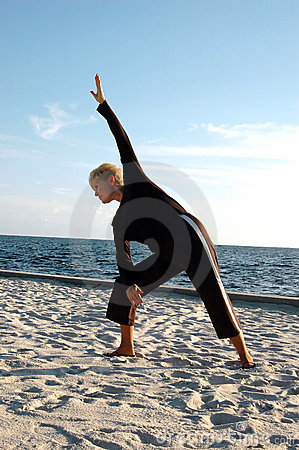 Free Senior Yoga Pose Royalty Free Stock Photo - 1298375