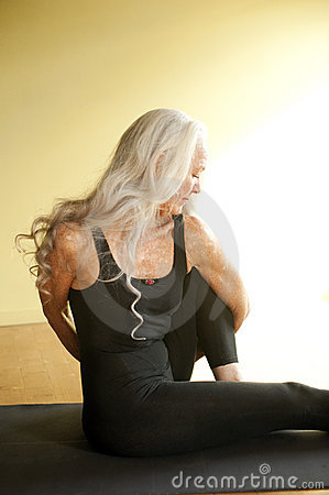 Senior Yoga Woman