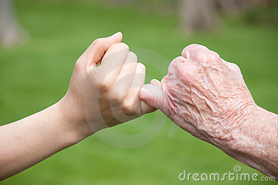 Senior and Young Hands Promise