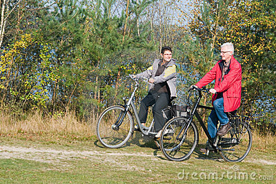 Seniors on a bike