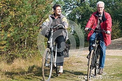 Seniors on a bike