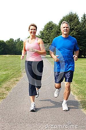 Free Seniors Couple Jogging Stock Images - 15403014