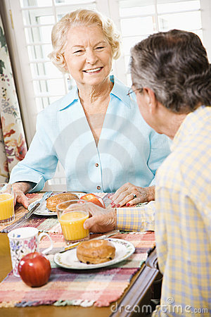 Free Seniors Eating Breakfast Stock Photos - 2848653