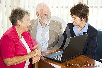 Seniors and Financial Advisor