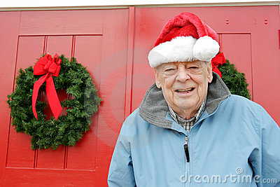 Seniors holiday,Santa grandpa