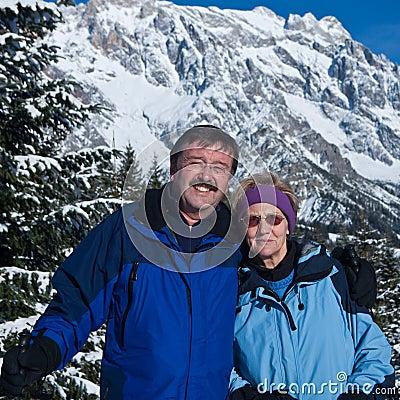 Seniors ion the snow