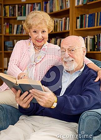 Seniors in Library