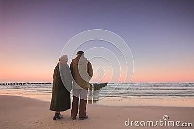 Seniors' love and ocean