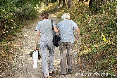 Seniors in park