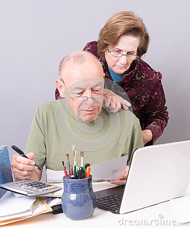 Seniors Paying Bills