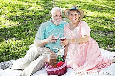 Seniors on Picnic Blanket