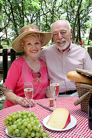 Free Seniors Ready To Picnic Royalty Free Stock Images - 945699